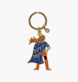 Super Mom Enamel Keychain