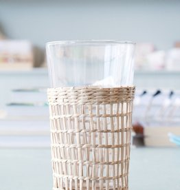 Rattan Drinking Glass