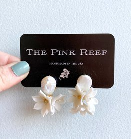 Pink Reef Pink Reef Pearl Bouquet Earrings