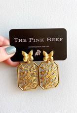 Pink Reef Pink Reef Butterfly Garden Earrings