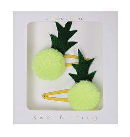 Pineapple Pom Pom Hair Clip