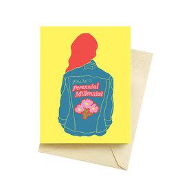Seltzer Perennial Millennial Birthday Card