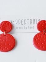 Peppertrain Joile Earrings- Red