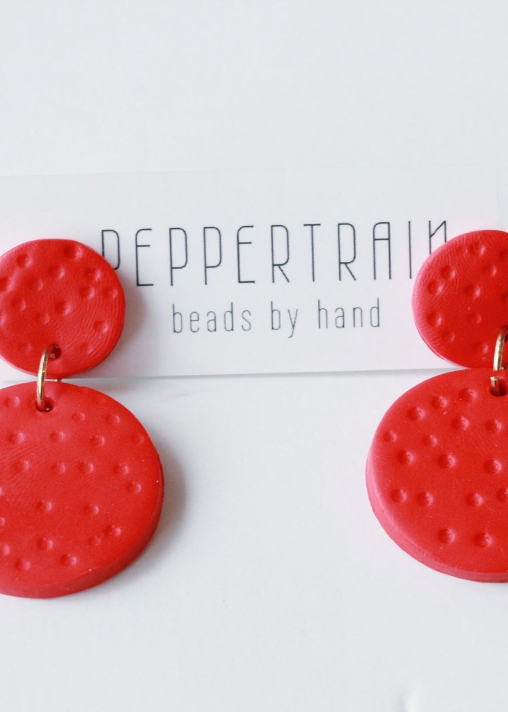 Peppertrain Peppertrain Joile Earrings- Red