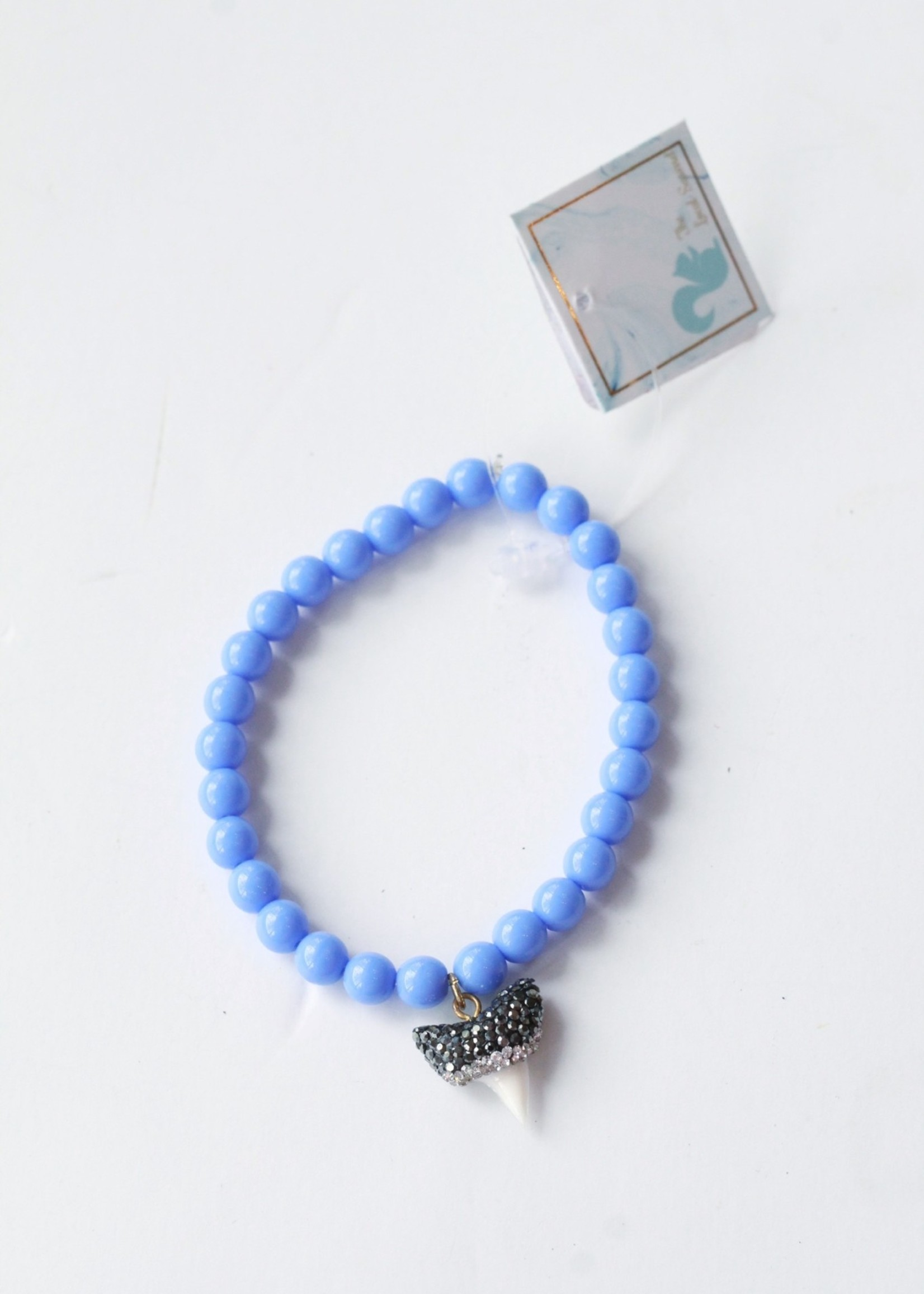 Pave Shark Tooth Stretch Bracelet