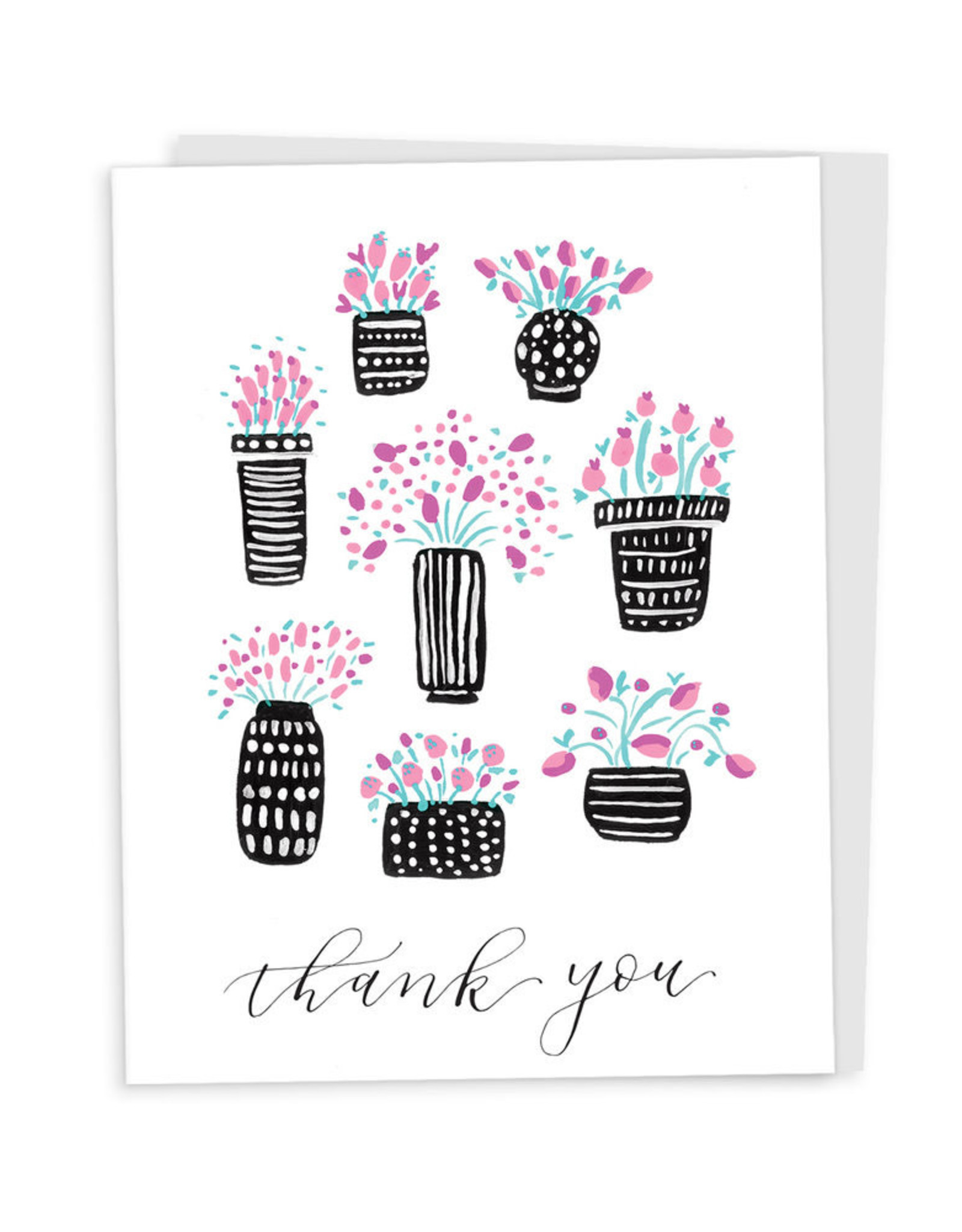 Happy Tines Pattern Pots Card