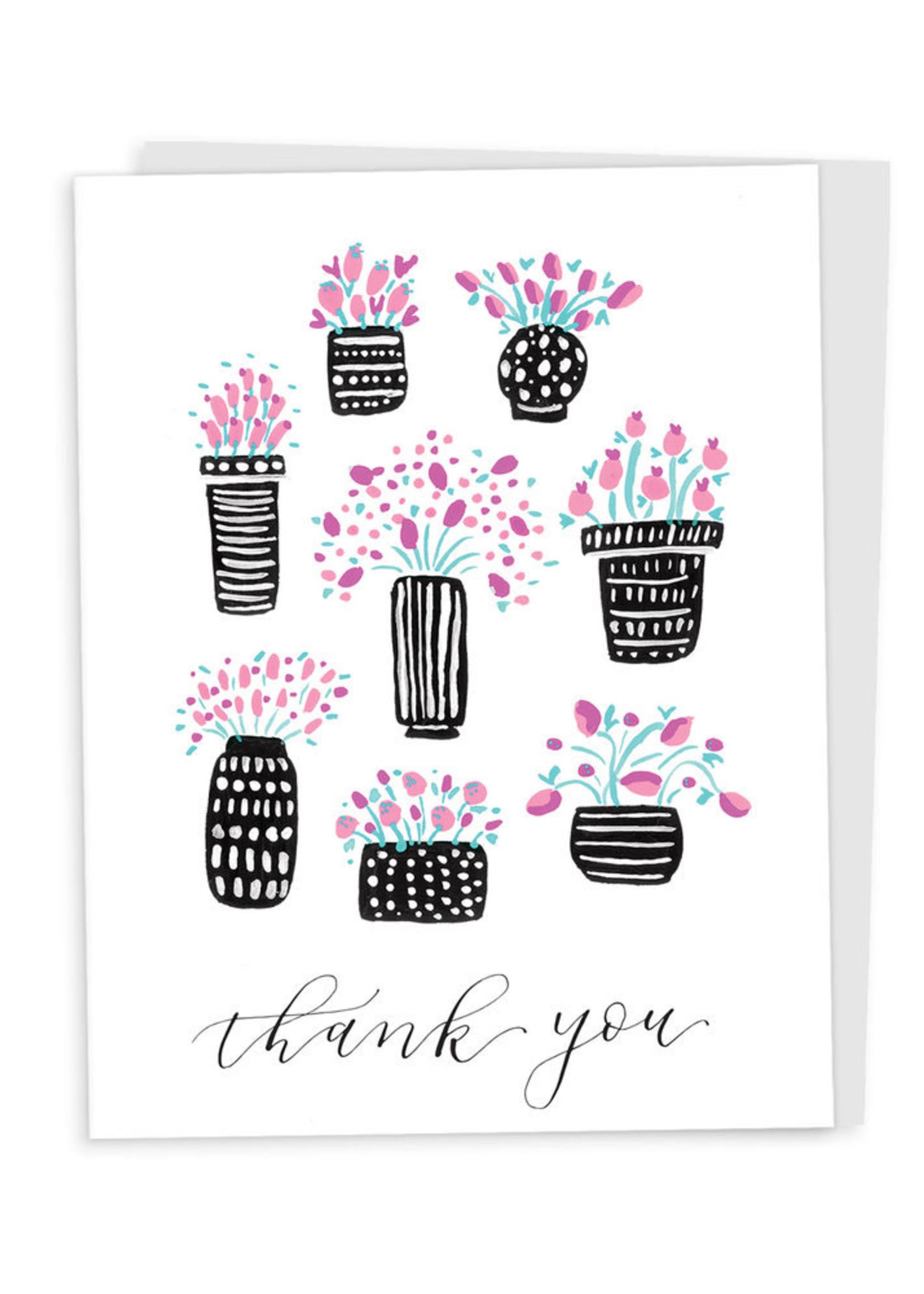 Happy Tines Pattern Pots Card