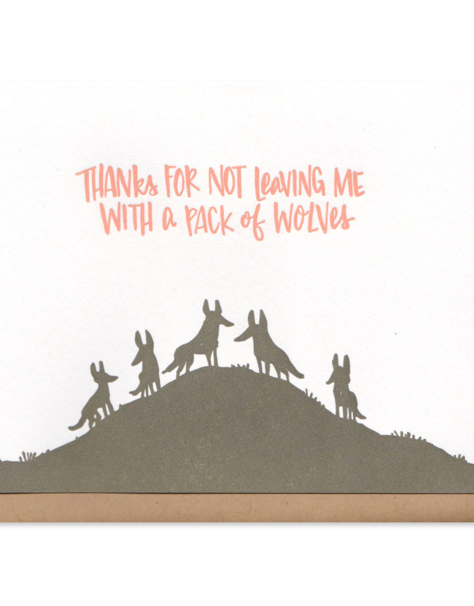 Frog and Toad Pack of Wolves Card