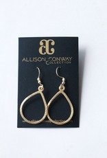 Allison Conway AC Classic Gold Drop Earrings