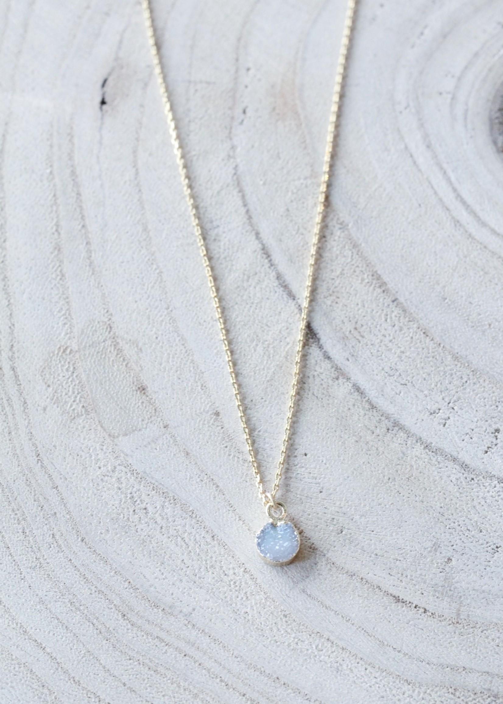 Allison Conway AC Dainty Grey Geode Necklace