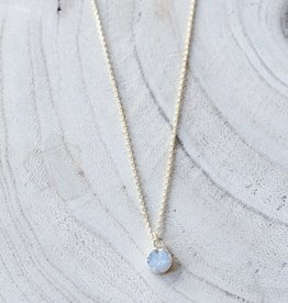 Allison Conway AC Dainty Grey Geode Necklace