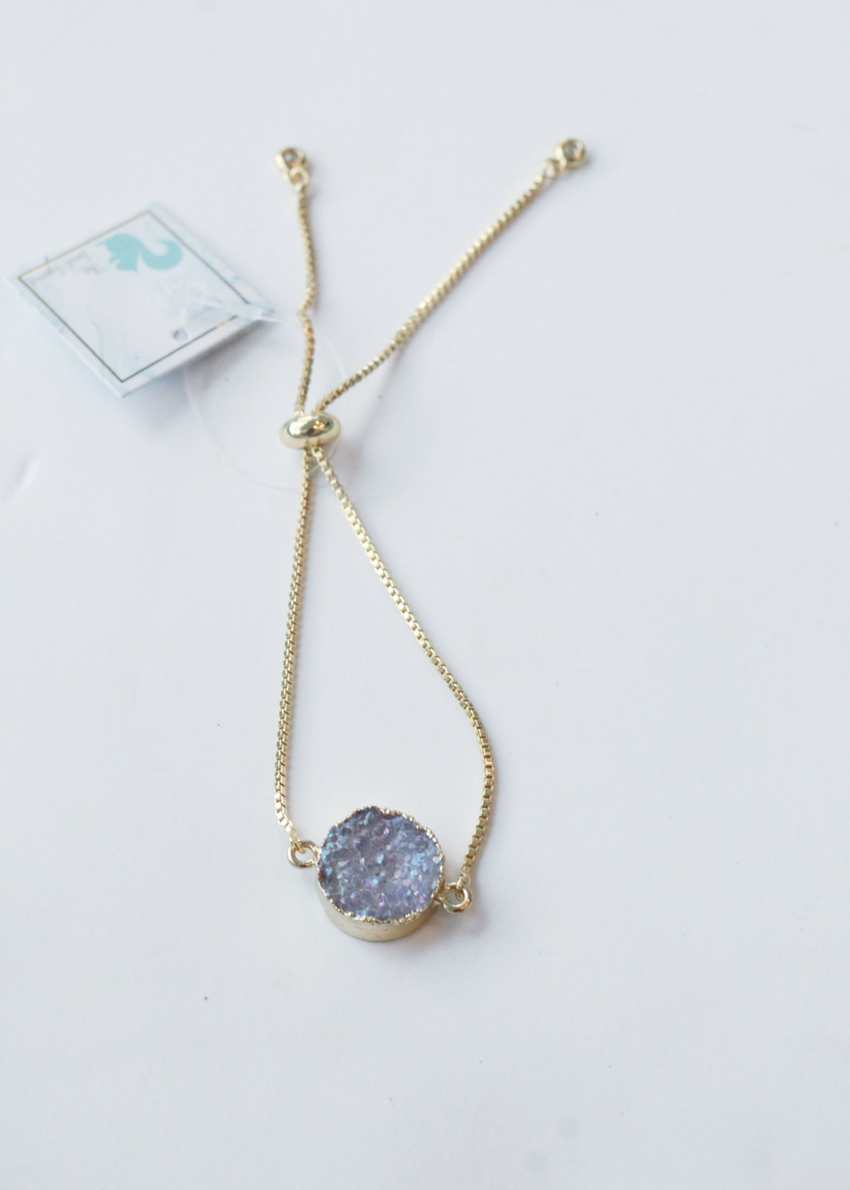 Allison Conway AC Dainty Purple Geode Bracelet