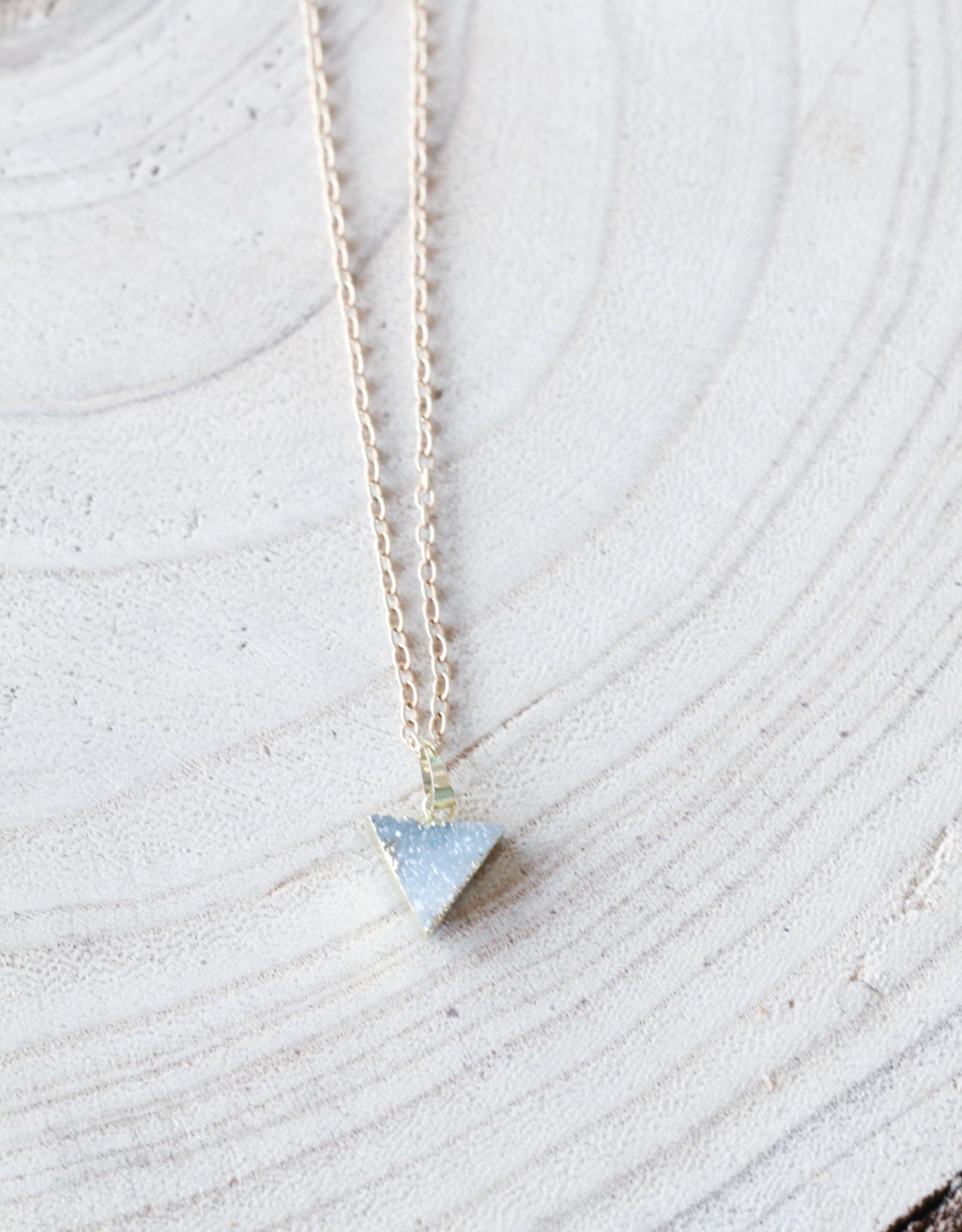 Allison Conway AC Dainty Triangle Charm Necklace