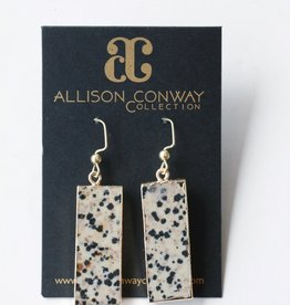 Allison Conway AC Dalmation Rectangles Earrings