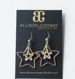 Allison Conway AC Delicate Crystal Stars Earrings