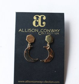 Allison Conway AC Gold Moons Earrings