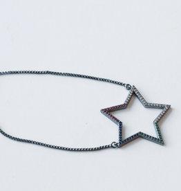 Allison Conway AC Gunmetal Multi Star Bracelet