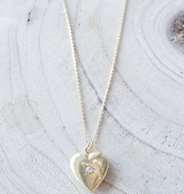 Allison Conway AC Heart Locket Necklace