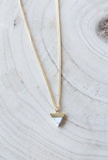 Allison Conway AC Marbled Triangle Dainty Gold Necklace