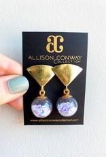 Allison Conway AC Mini White Confetti Earrings