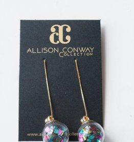 Allison Conway AC Multi Confetti Drop Earrings