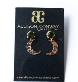 Allison Conway AC Olive Moons Earrings