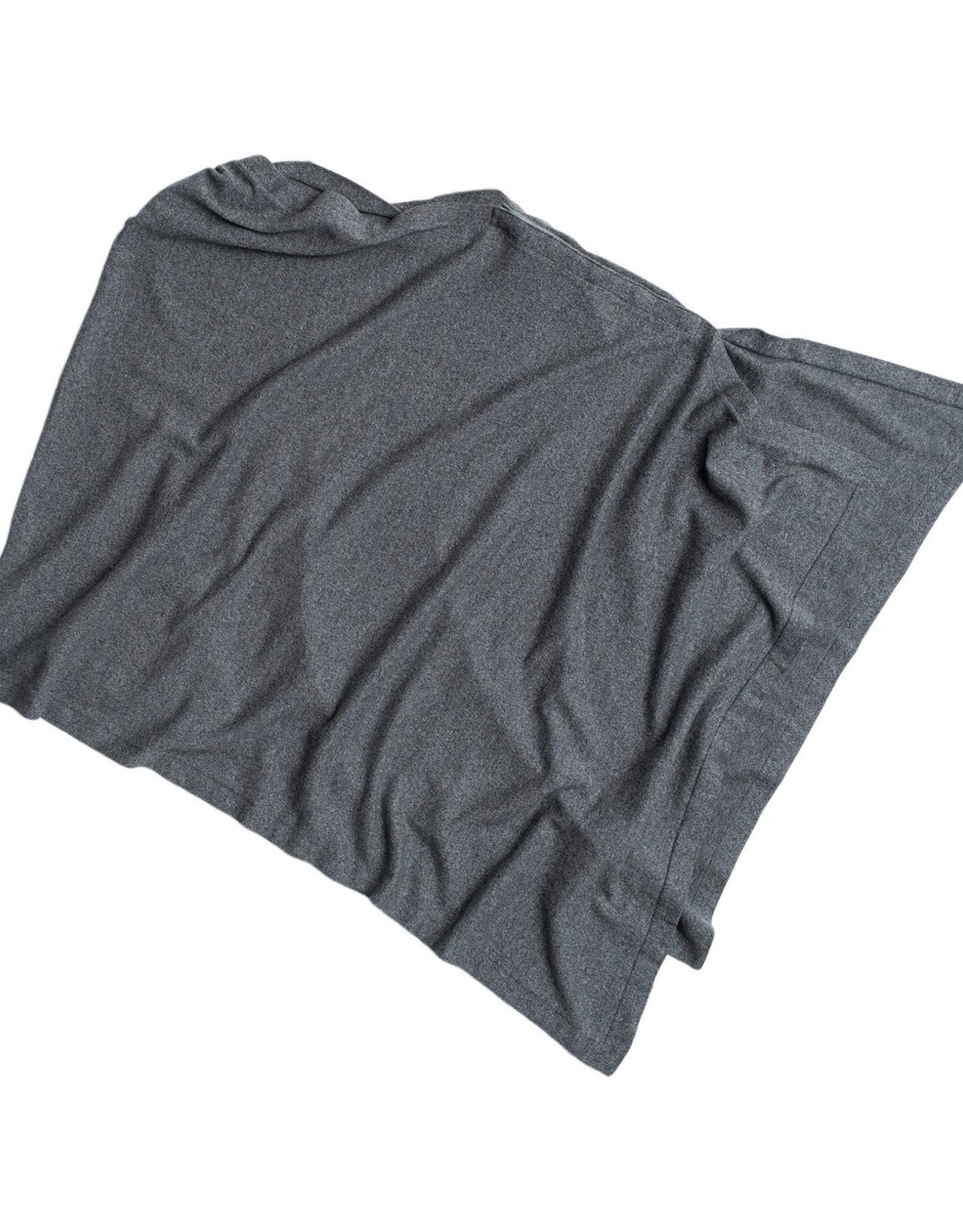 Organic Cotton Nursing Poncho Grey