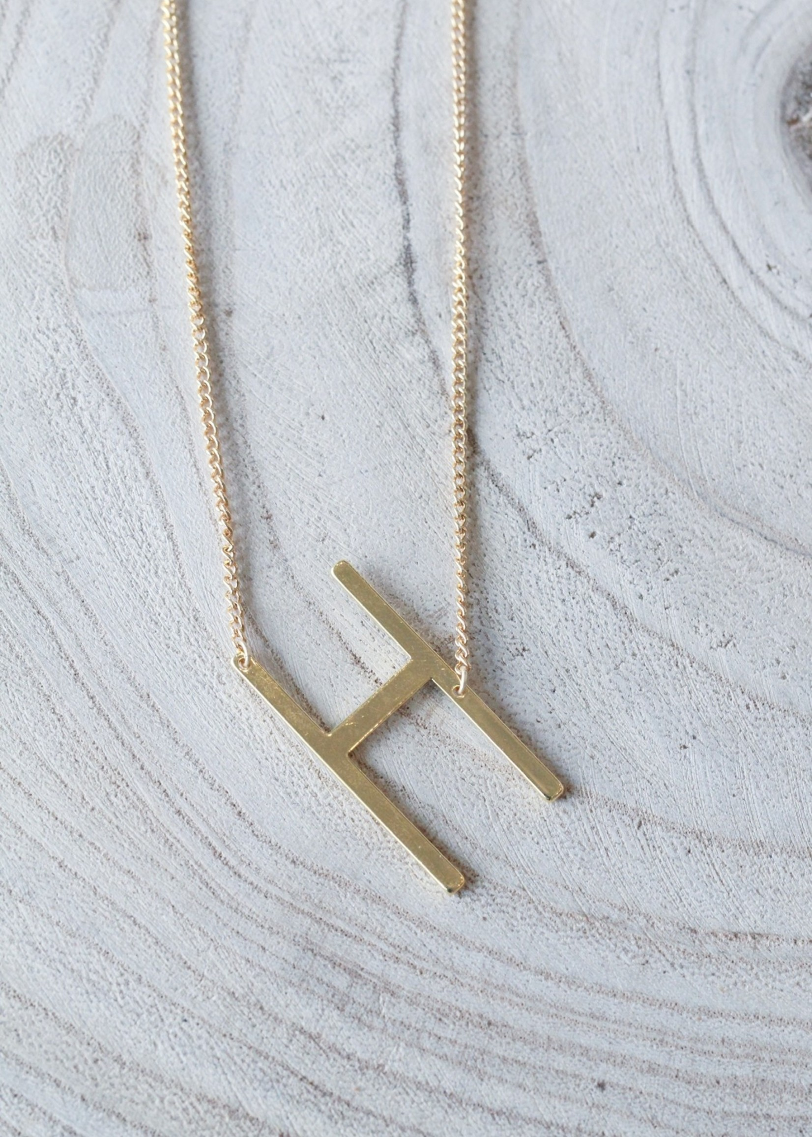 Allison Conway AC Oversized Initial Necklace
