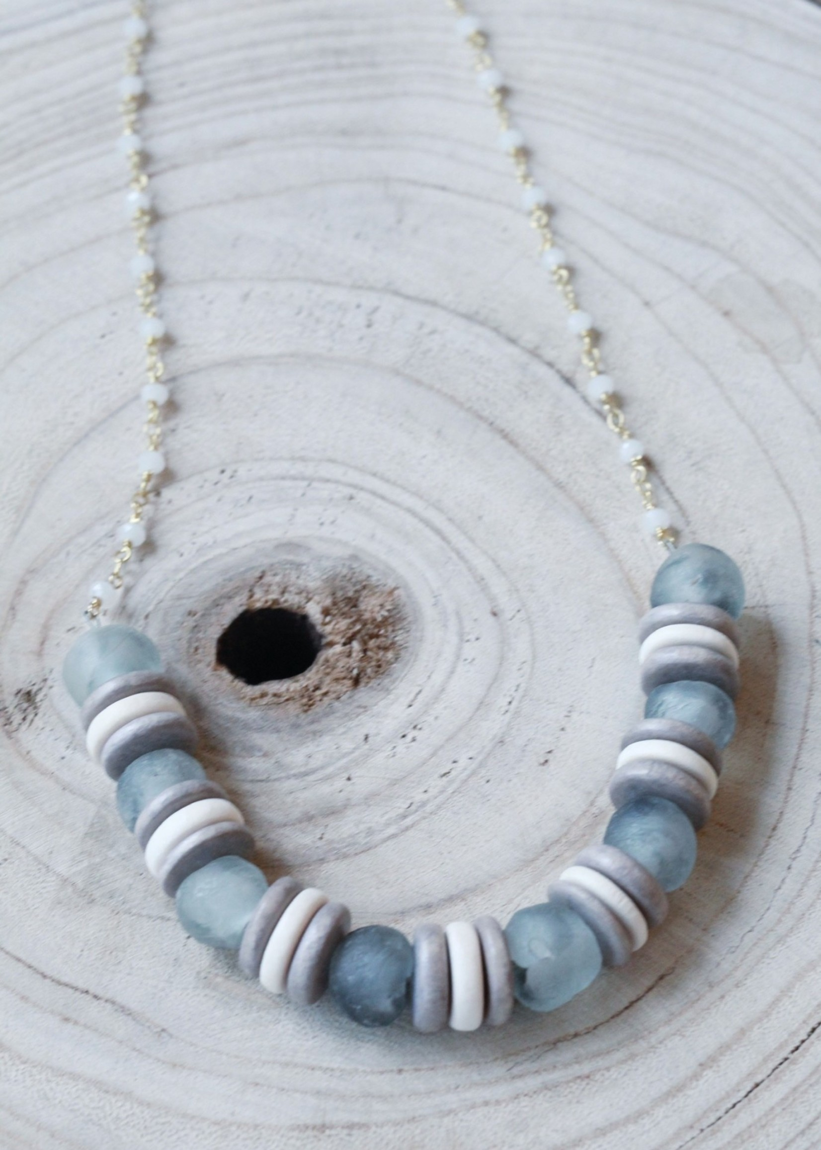 Allison Conway AC Sea Glass Pendent Necklace