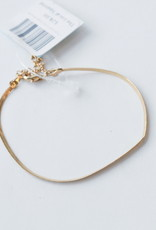 Allison Conway AC Simple Gold Chain Bracelet
