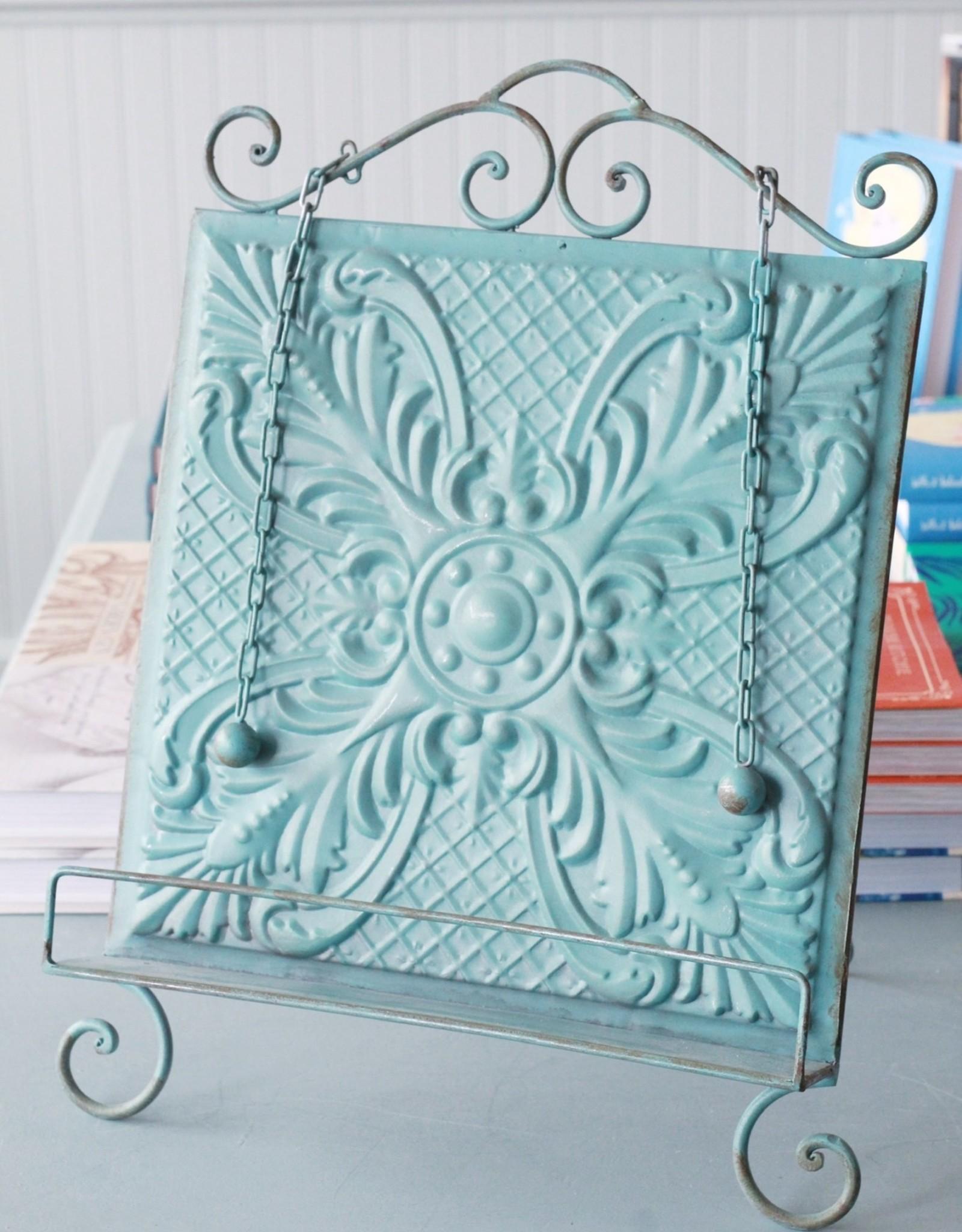 Aqua Embossed Book Holder