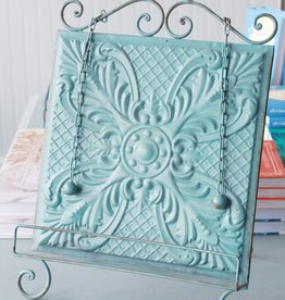 Aqua Embossed Book Holder