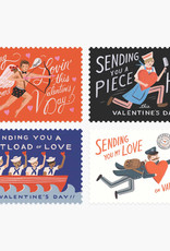 Assorted Set Valentine Postcards