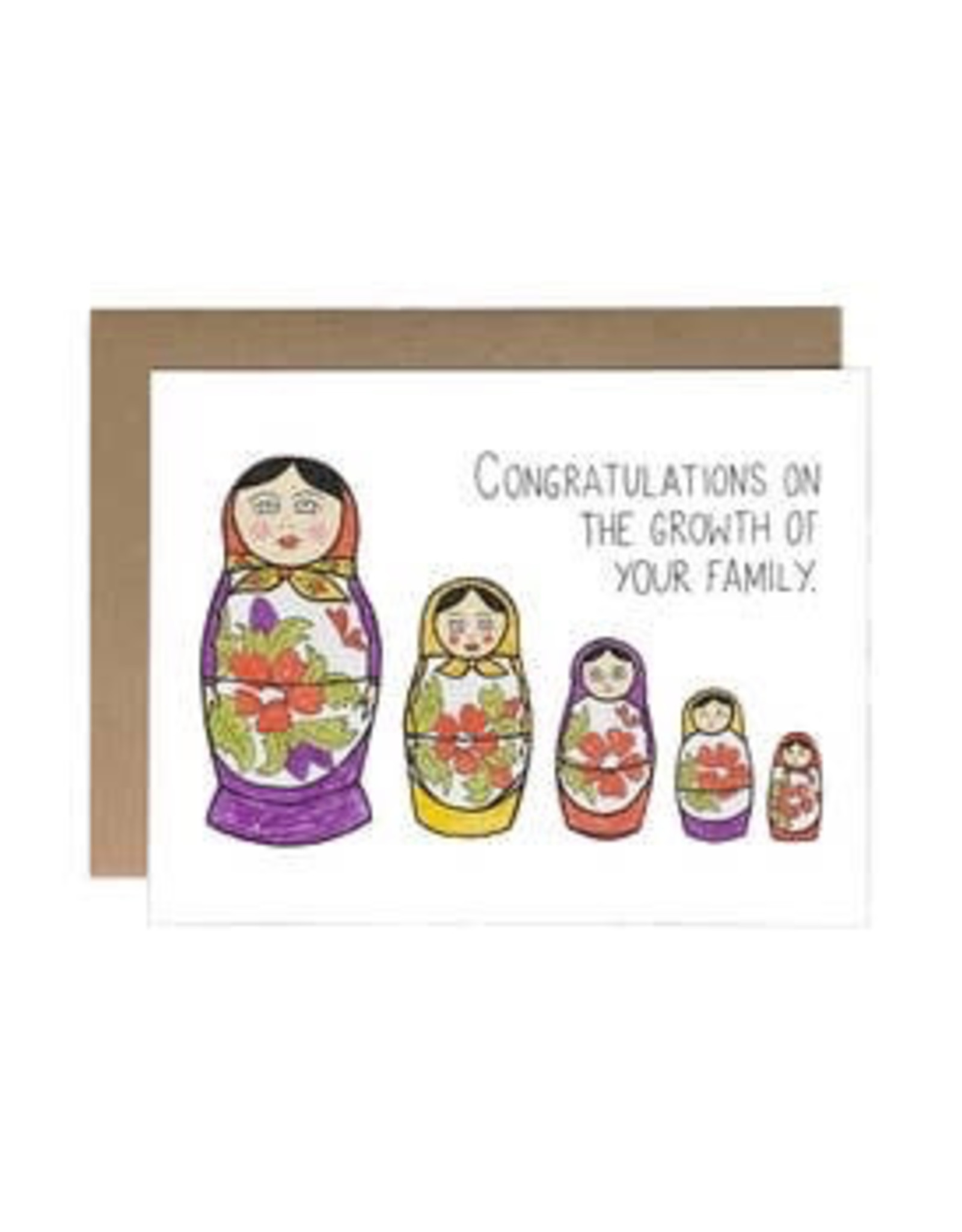 Chateau Blanche Baby Nesting Dolls Card