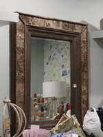 Bark and Wood Framed Mirror