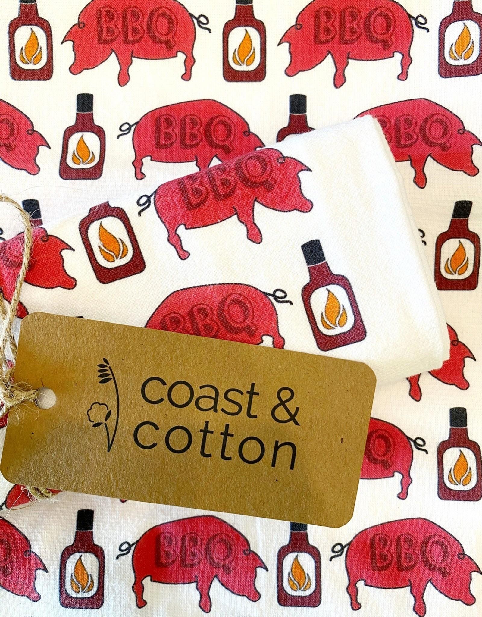 BBQ Pig Tea Towel