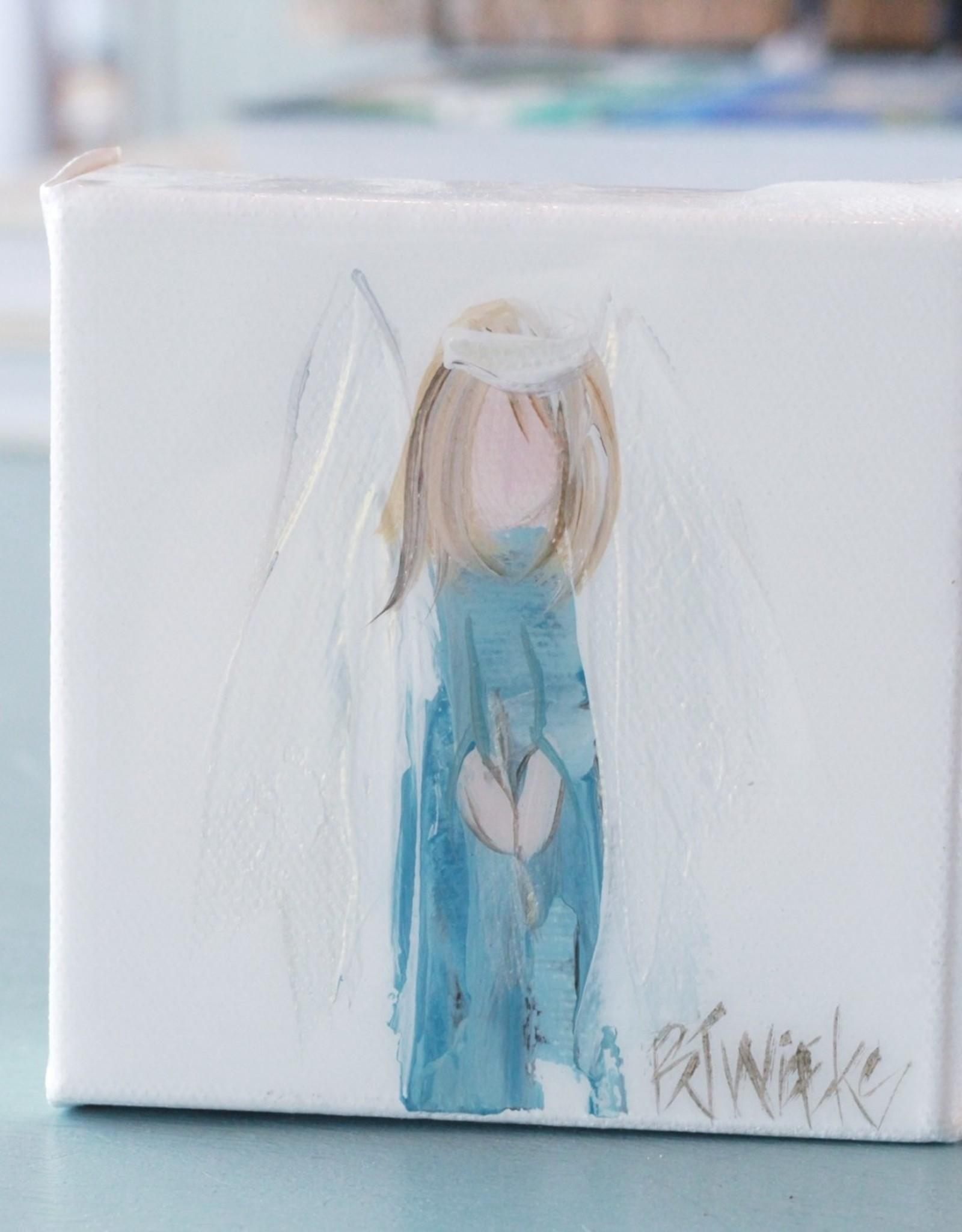 "BJ Weeks BJW 4""x4"" Angel on Canvas"