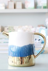 Blue White and Gold Kettle