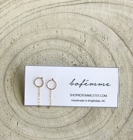 Bofemme Bofemme Chain Huggie Earrings