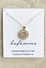 Bofemme Crystal Initial Necklace