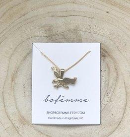 Bofemme Bofemme Golden Eagle Charm Necklace