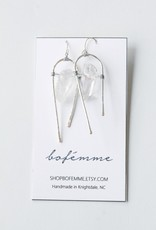 Bofemme Bofemme Quartz Drop Earrings