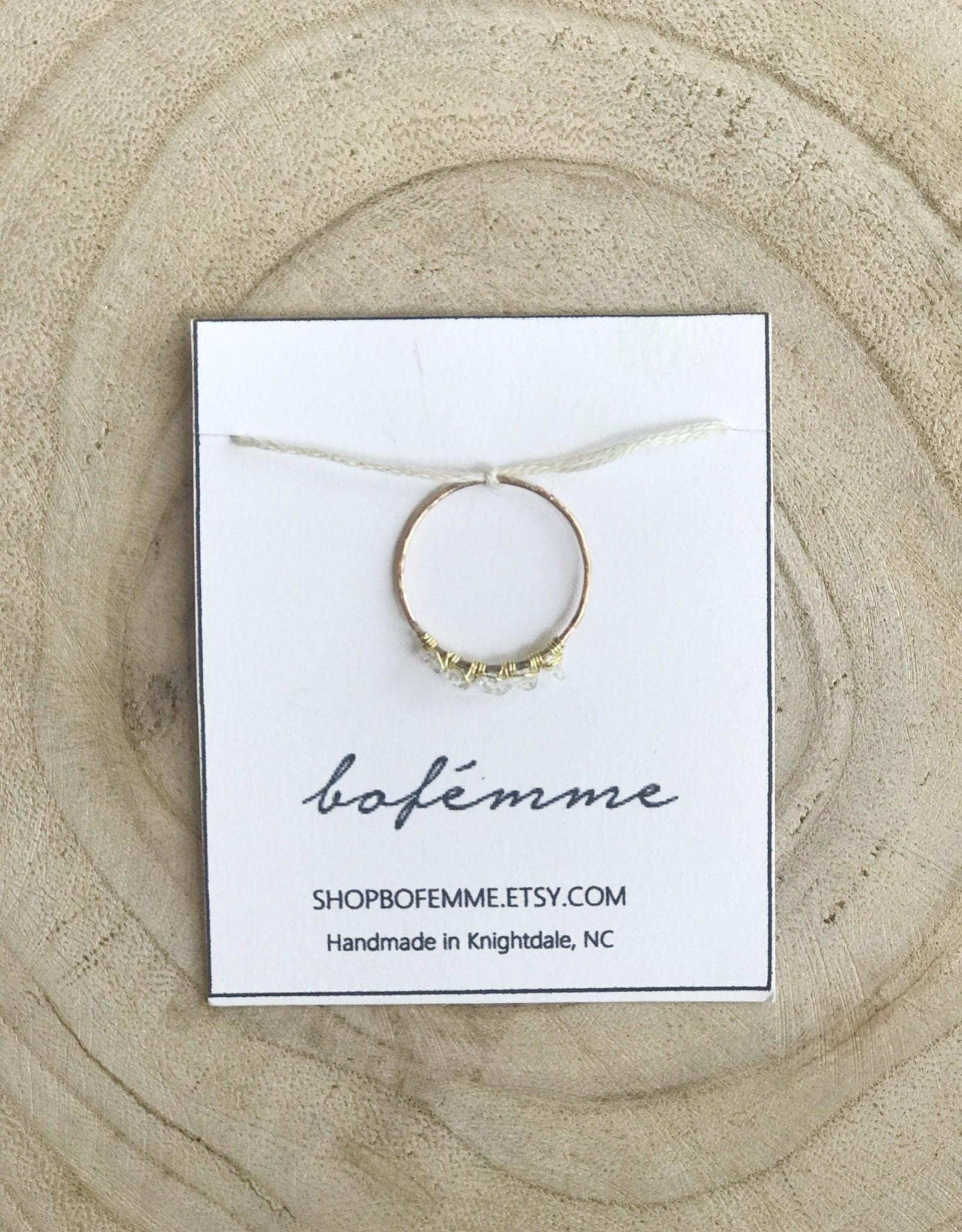 Bofemme Bofemme Raw Herkimer Diamond Ring