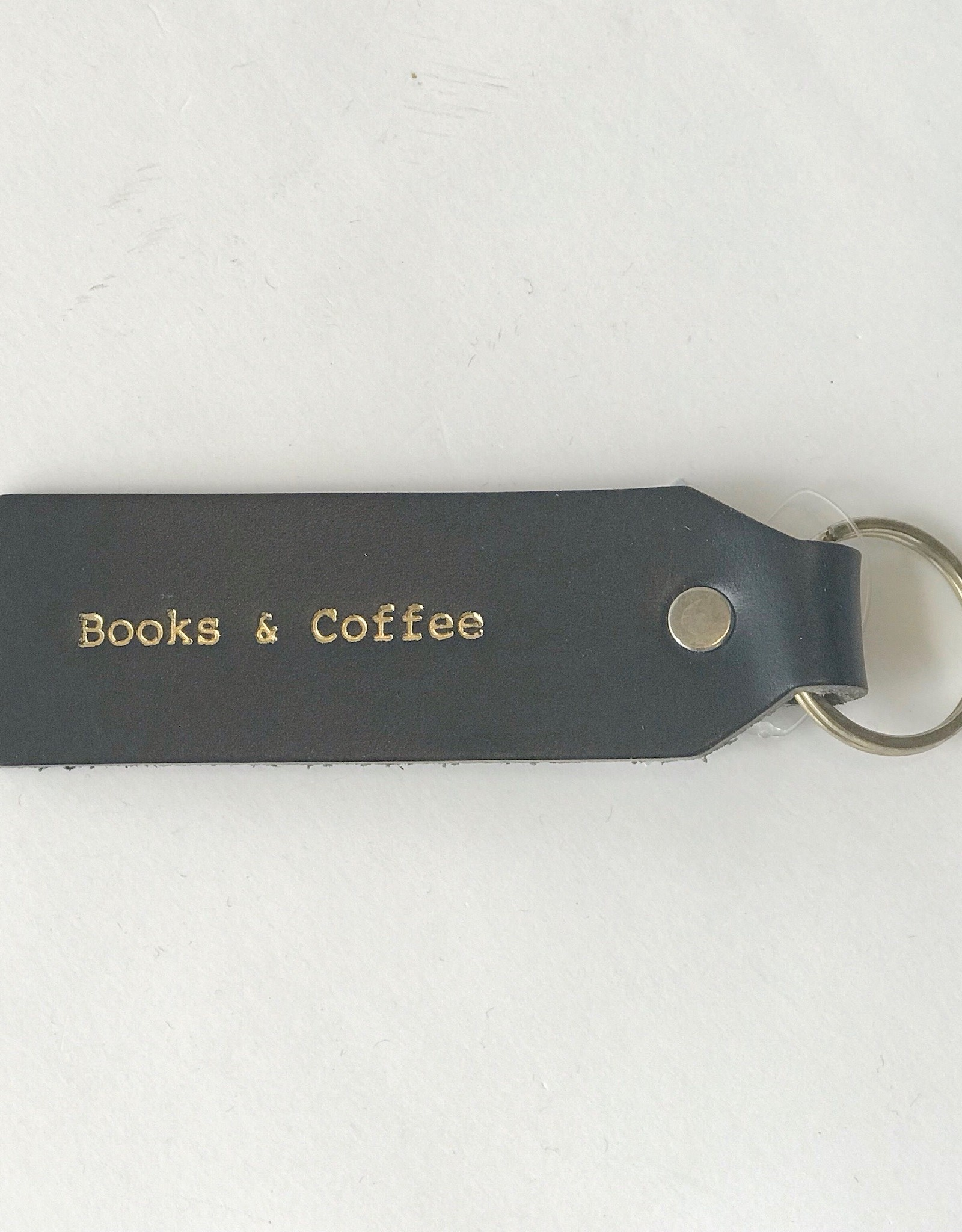 Books and Coffee Keychain