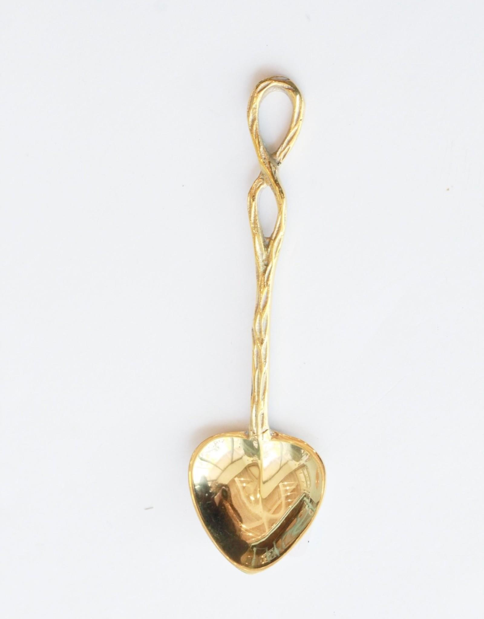 Brass Heart Spoon
