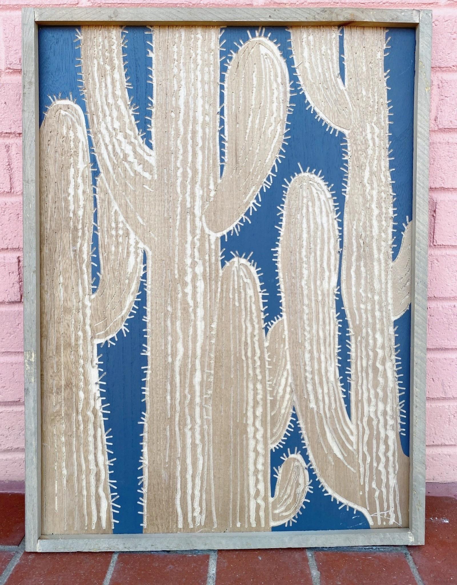 Cactus Framed Wall Decor