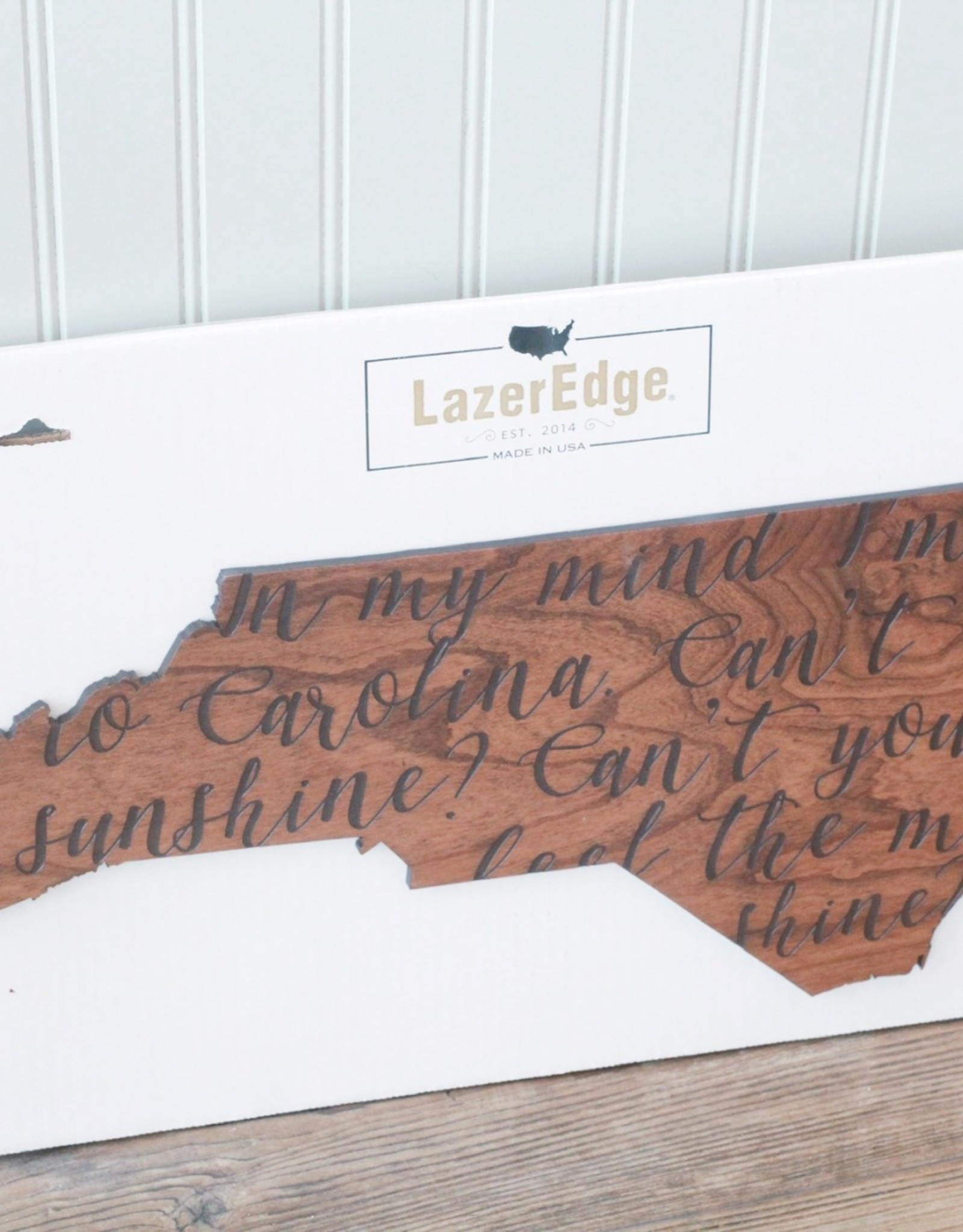 LazerEdge Carolina on My Mind Wall Decor