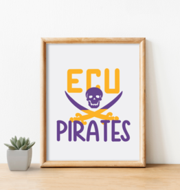 Cardinal Directions CD ECU Pirates Print
