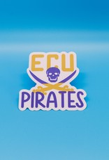 Cardinal Directions CD Stickers - ECU Pirates