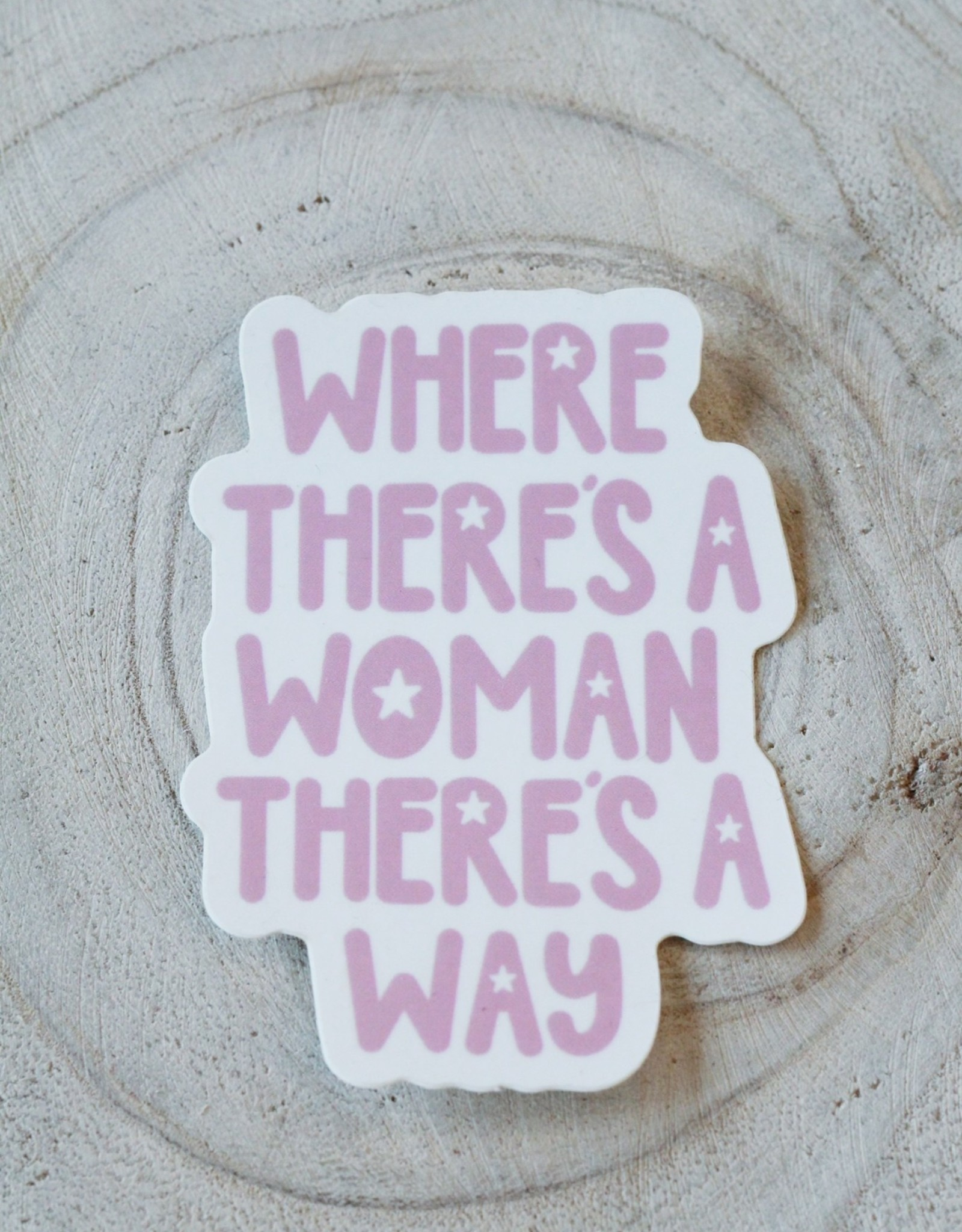Cardinal Directions CD Stickers- Where There's a Woman